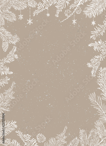 Christmas Poster - Illustration. Vector illustration of Christmas Background