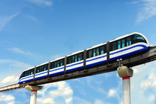 Monorail Train On Girder