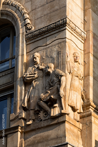 Facade Decorations Of The Hungarian National Bank S Building