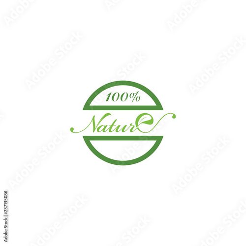 Fotografía  100% NATURE logo design
