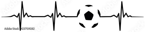 football soccer heartbeat #isoliert #vektor - Fußball Herzschlag Canvas Print