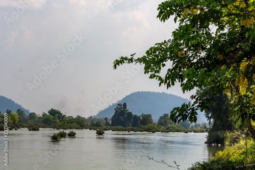 Valokuva  Mekong river islands landscape Laos