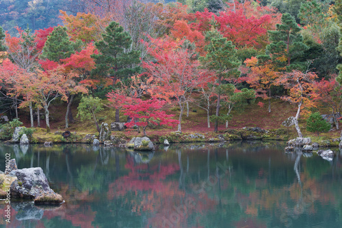 Fotografía  Idyllic landscape of Arashiyama, Kyoto, Japan in autumn season