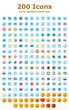 Icons Symbole Emoticons Set
