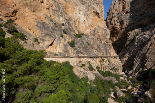 Photo  Foothpath of 'El Caminito del Rey' (King's Little Path), one of the most Dangero