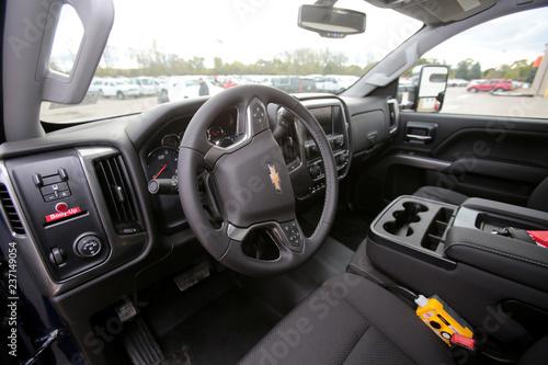 The Interior Of A 2019 Chevrolet Silverado 6500 Hd Chassis