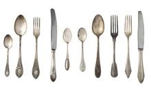 Vintage Spoons, Forks And Kniv...