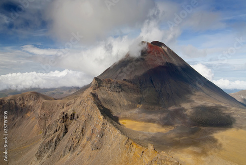 Fotografie, Tablou  Mount Ngauruhoe, view from Tongariro Crossing National Park, North Island, New Zealand