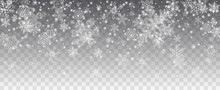 Vector Snowfall, Snowflakes Of...