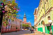Subotica City Hall And Main Square Colorful Street View