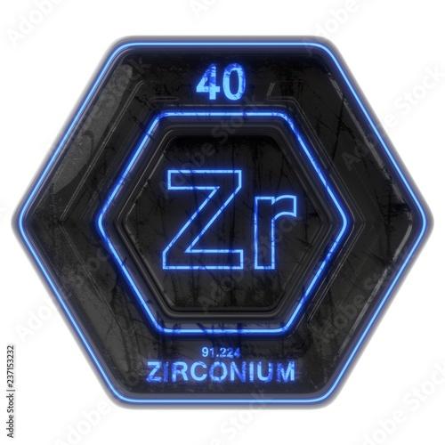 Valokuva  Sci Fi Button Zirconium