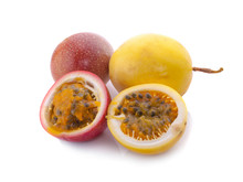 Passion Fruit Isolated On Whit...