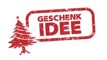 Stempel - Geschenkidee - Tannenbaum Rot