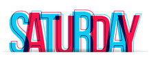 Saturday Word Vector Isolated ...