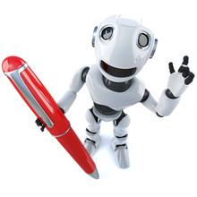 3d Funny Cartoon Robot Charact...