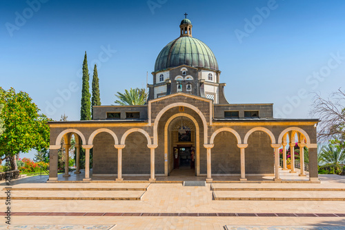 Photo Church Of The Mount Of Beatitudes, Sea Of Galilee, Israel.