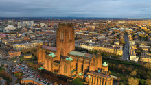 Aerial View Of Liverpool Cathe...