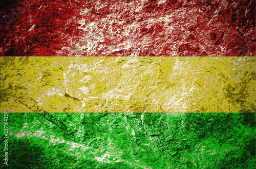 Fotografia red, yellow, green, reggae's color  style on stone background