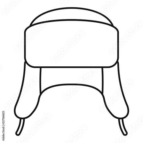 Foto Ear flap winter hat icon