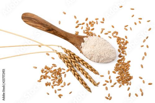 Dinkel - Mehl, Ähren und Körner