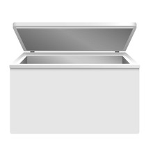 Refrigerator Icon. Realistic I...