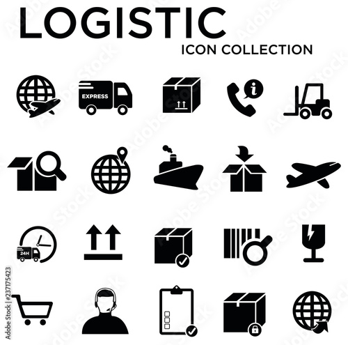 Staande foto Hoogte schaal logistic collection icon