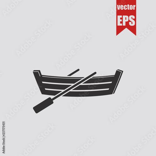 Photo Dinghy icon.Vector illustration.