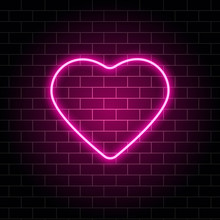 Neon Heart. Bright Night Neon ...