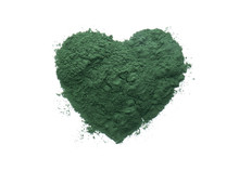 Heart Made Of Spirulina Powder...