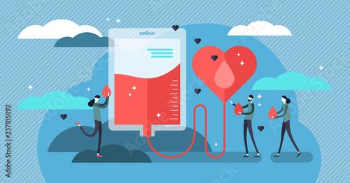 Cuadros en Lienzo Blood donation vector illustration