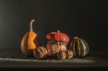 Still Life With Pumpkins And N...