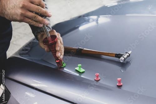 Fototapeta  Car Body Repair, Dent Repair, Equipment, Kiss