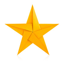 Golden Star Of Origami.