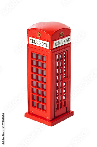 Foto op Plexiglas Centraal Europa Toy red phone booth of London