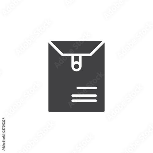 Fényképezés  Long postal envelope vector icon