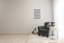 Interior Of Light Room With Co...