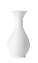 Beautiful Ceramic Vase On Whit...