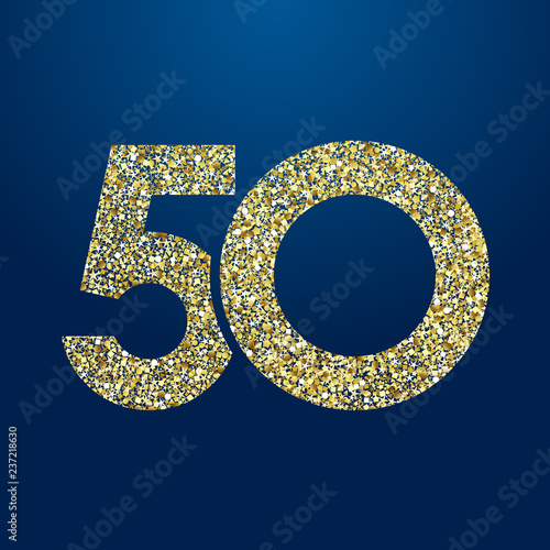 Photo 50 th years old logotype