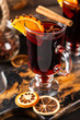 Mulled wine with spice and orange