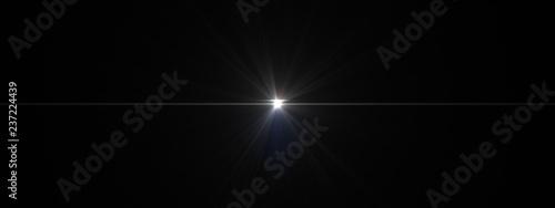 Canvas Print lights optical lens flares shiny