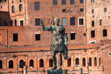 August Caesar Bronze Statue Tr...