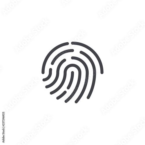 Vector fingerprint icon  Fingerprint symbol shape  Biometric