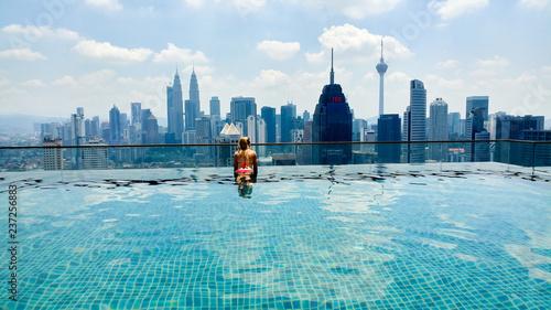 Kuala Lumpur Infinity swimming pool Wallpaper Mural