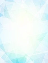 Pale Turquoise And Light Yellow Blue Background Textured By Triangles