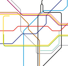 London Ctiy Center Subway Inspired Plan Map
