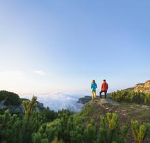 Hikers Admiring The Natural La...