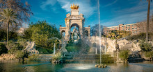Ciutadella Park Fountain In Barcelona, Spain