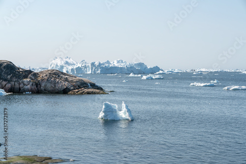 Fotografie, Obraz  Icebergs on Arctic Ocean