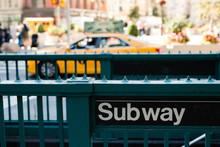 Subway Entrance In New York City