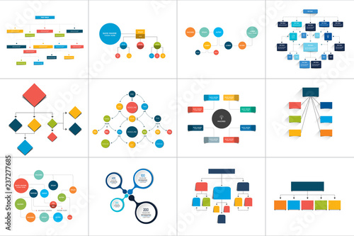 Stampa su Tela Fowcharts schemes, diagrams